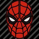 marvel, mask, spiderman, superhero icon