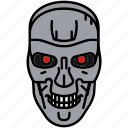 terminator, skynet, droid, robot icon