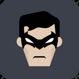 avatar, hero, heroic, man, masked man icon