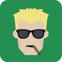 avatar, cigar, cool, glasses, man, smoking icon