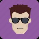 avatar, biker, hero, man, user, villain icon