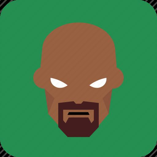 avatar, beard, hero, man, user icon