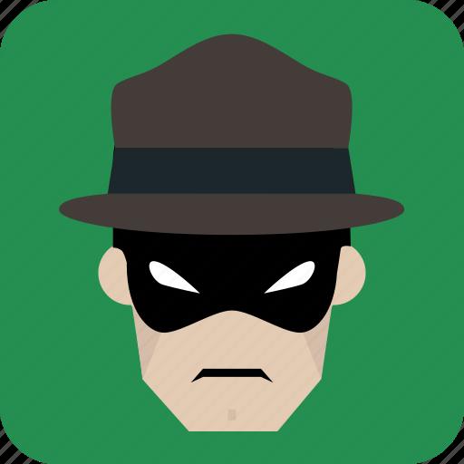 avatar, man, mask, masked man, user icon