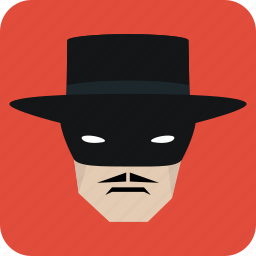 avatar, hat, man, mask, masked man, user icon
