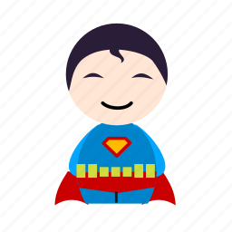 cartoon, hero, super, superhero icon