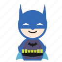 batman, cartoon, hero, super, superhero icon