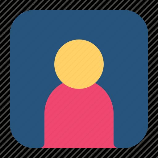 contact, friend, person icon