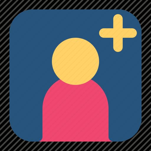 add, contact, friend, person icon