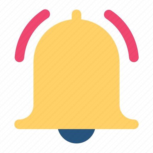 alert, bell, notification, on, ring icon