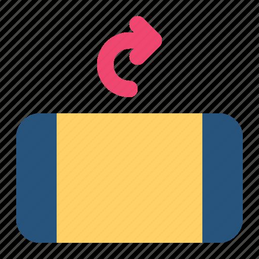 arrow, right, rotate, rotation icon