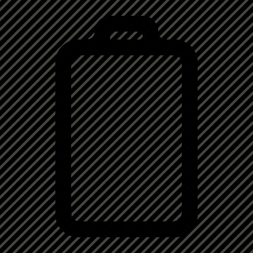 battery, empty, energy, power icon