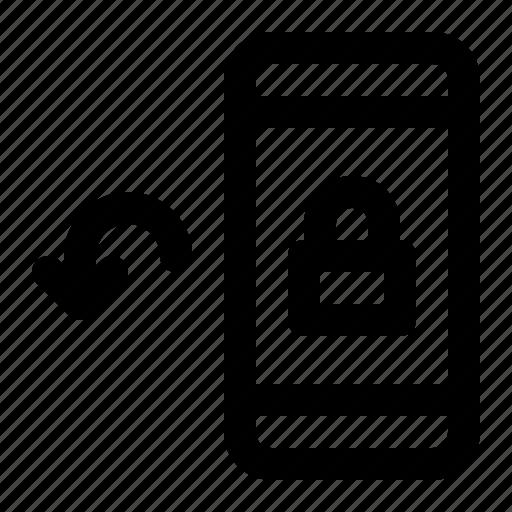 arrow, left, lock, rotate, rotation icon