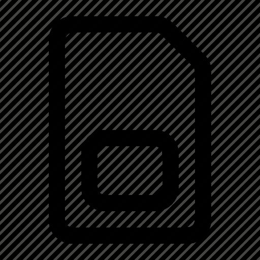 card, chip, mobile, sim icon