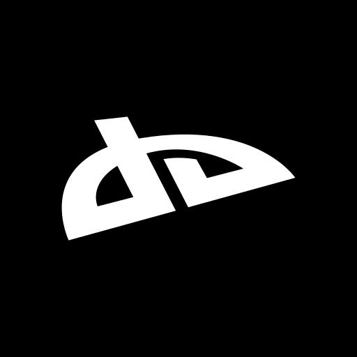 deviantart, hexagon, media, social icon
