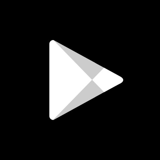 hexagon, media, play, social, store icon