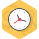 clock, gear, schedule, time, time management icon