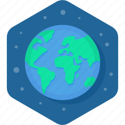 earth, global, planet, star icon