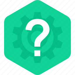 ask, faq, gear, help, how, question icon