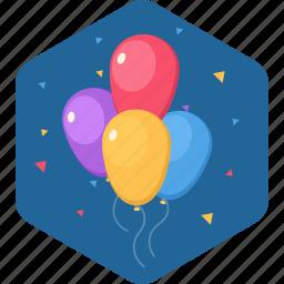 balloon, birthday, celebration, party, thanks icon