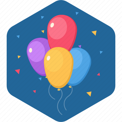 balloon, birthday, celebration, party, thanks icon