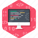 code, coding, computer, designing, html, programming icon