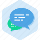ask, bubbles, chat, conversation, message, talk icon