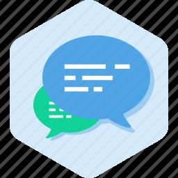 ask, bubbles, chat, conversation, message, talk icon