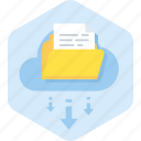 archive, cloud, data, folder, share icon
