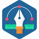 art, curve, design, graphic, pen, scale, tool icon