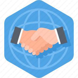 agreement, business, deal, global, handshake, partnership icon