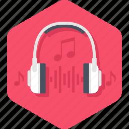 audio, headphones, headset, listen, music, sound icon
