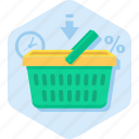 basket, buy, deadline, offer, shopping icon
