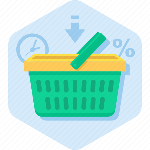 basket, buy, deadline, offer, shopping icon