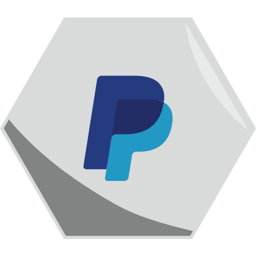 business, hexagon, money, payment, paypal, social, transaction icon