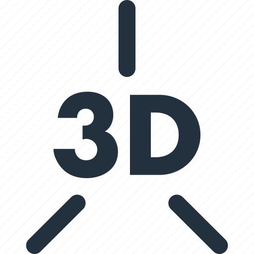 3d, axis, dimensions, xyz icon