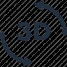 3d, rotate, rotation, xyz icon