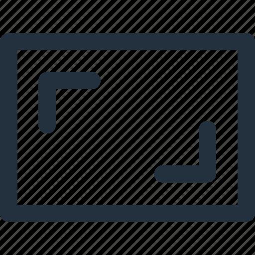 aspect, monitor, ratio, tv icon