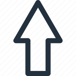arrow, direction, top, up, upward icon