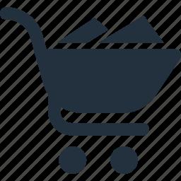 basket, cart, full, shop, shopping icon