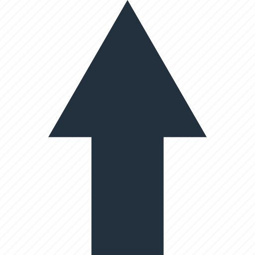 arrow, direction, top, up, upward icon