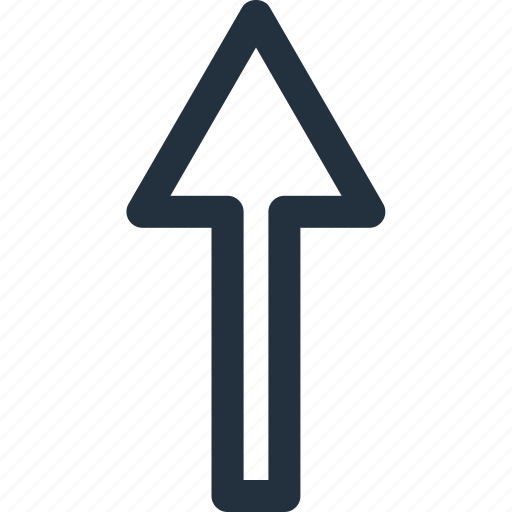 arrow, direction, navigation, top, up, upward icon