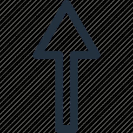 arrow, direction, navigation, top, up, upward icon