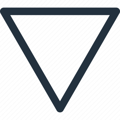 arrow, bottom, direction, down icon