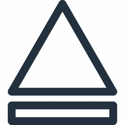 arrow, eject, top, up, upward icon