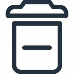 delete, garbage, less, minus, recycling icon