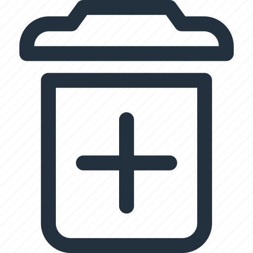 create, garbage, new, plus, recycling, trash icon