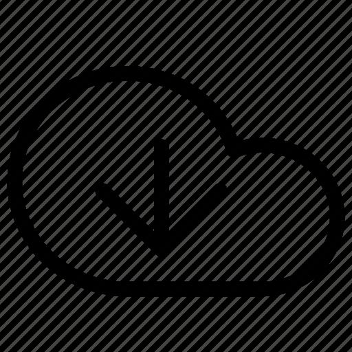 Cloud, download, data, database, network, server, storage icon - Download on Iconfinder