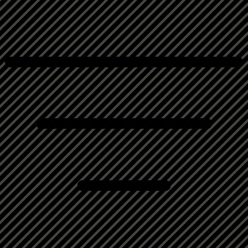 filter, filtering, funnel, order, sort, sorting icon