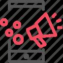 loudspeaker, marketing, mobile, phone, seo icon