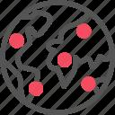 active, community, connection, globe, seo, world icon